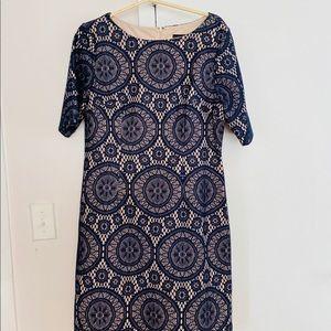 Blue lace floral dress